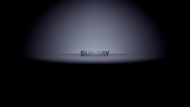 sunday week day horizon zoom - hafta sonu etkinlikler stok videoları ve detay görüntü çekimi
