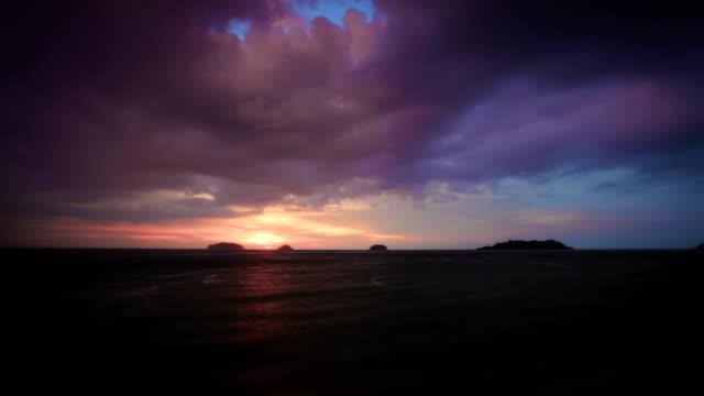 sundown at the beach video