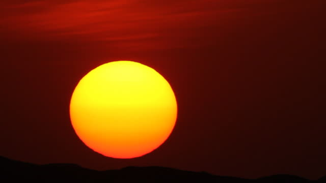 sunet with huge sun 720p  sunset to night time lapse stock videos & royalty-free footage