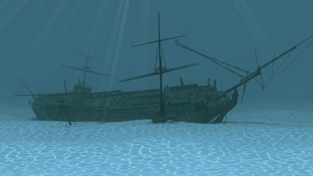 римская ship - погружённый стоковые видео и кадры b-roll
