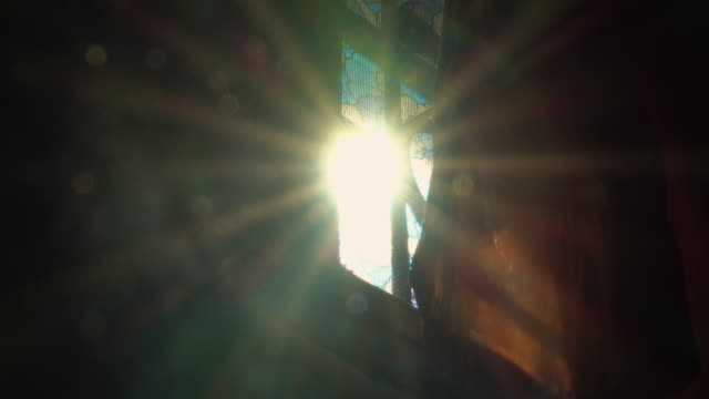 sunlight and flare from windows - flare video stock e b–roll