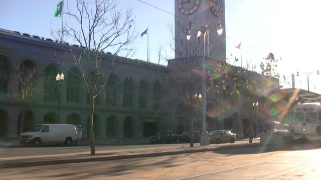HD: Sunlight Glistens off San Francisco Tram, Streetcar, Trolley video