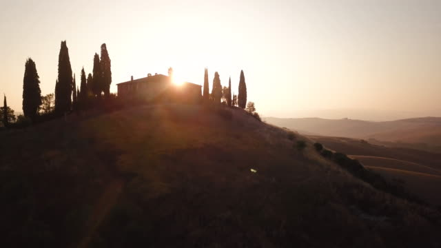 Sunlit morning in Val d'Orcia video