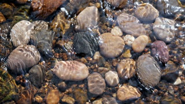 Sunlit Pebbles in a Stream.
