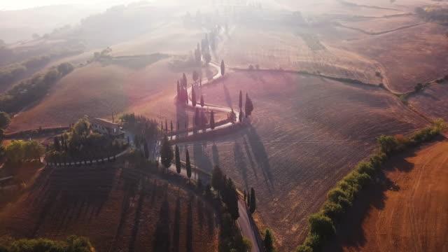 sunlit winding road - cultura italiana video stock e b–roll