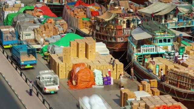 sunny day dubai deira cargo port ship parking 4k time lapse united arab emirates - 7 star stock videos and b-roll footage