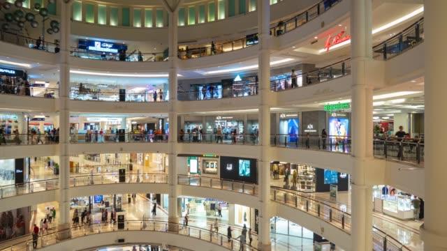 jour ensoleillé Kuala Lumpur ville célèbre célèbre tours Mall Hall principal panorama 4k timelapse Malaisie - Vidéo