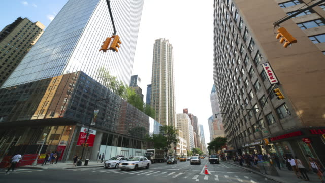 sunny day manhattan street 4k time lapse from new york video