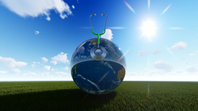 Sunny Planet Earth On Grass For World Health Day World Health Day, Day, Healthcare And Medicine, Medicine, Healthy Lifestyle world health day stock videos & royalty-free footage