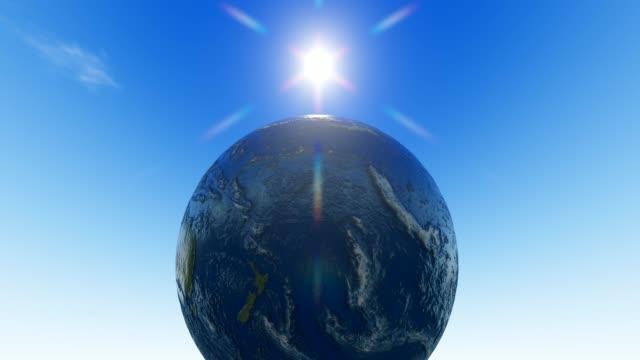 soliga planeten jorden - ekvatorn latitud bildbanksvideor och videomaterial från bakom kulisserna