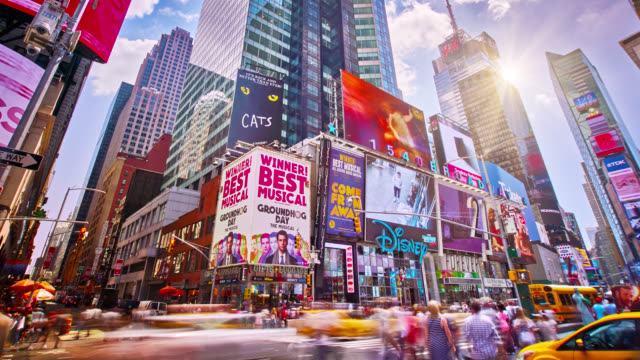 sunny time square - new york architecture stock videos & royalty-free footage
