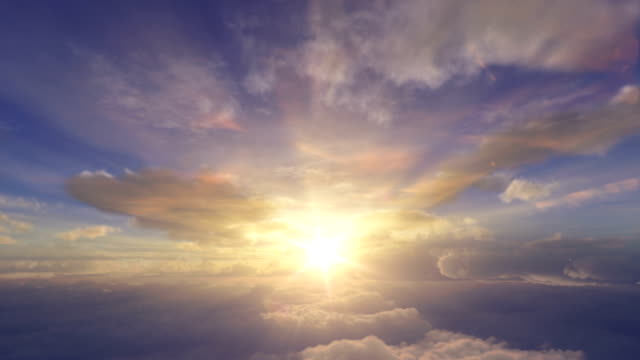 Sunrise above the clouds video