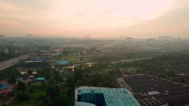 Sunrise aerial view of Johor Bahru city, Malaysia City skyline of JB city johor bahru stock videos & royalty-free footage