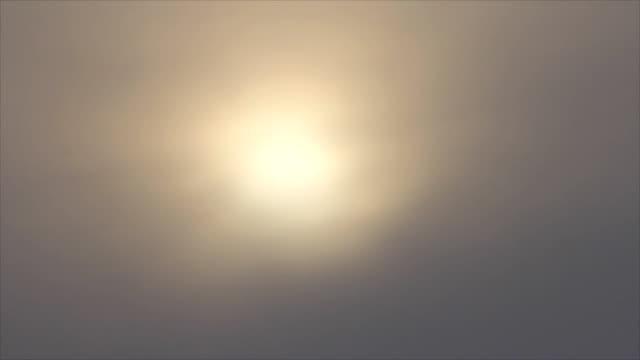 Sunrise at mist sky video