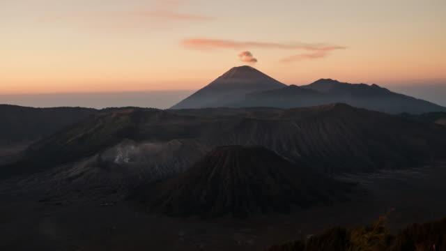 Sunrise at Mount Bromo volcano East Java, Indonesia. video