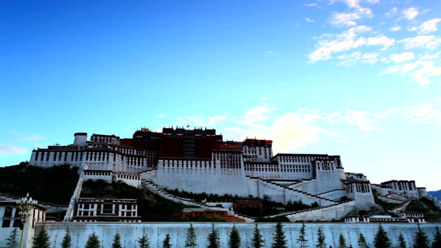 Sunrise at the Potala Palace video
