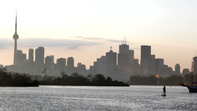 Sunrise at view of toronto Sunrise at view of toronto ontario canada stock videos & royalty-free footage