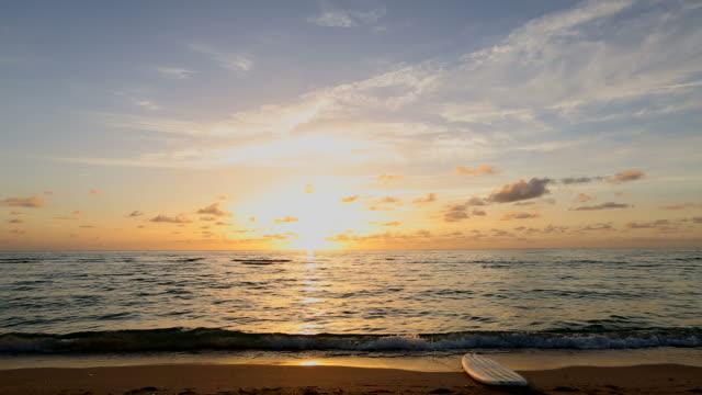 Sunrise Beach Surfboard on Ground video