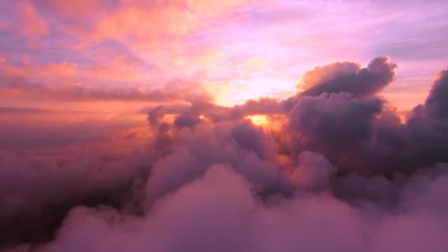 sunrise fly - arancione video stock e b–roll