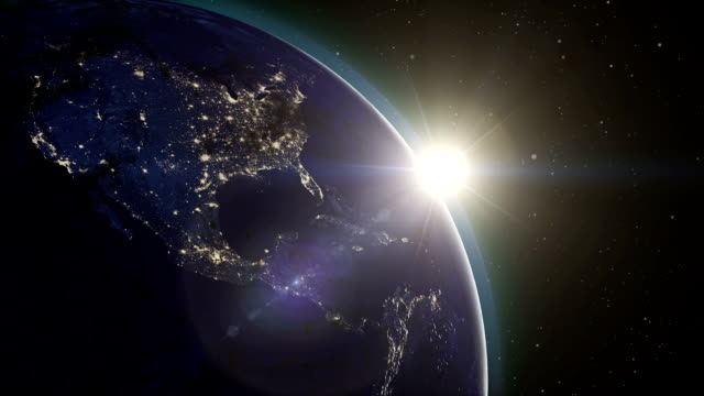 Sunrise from Space video