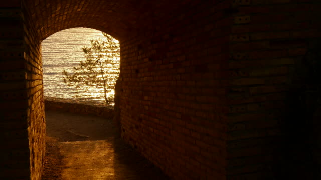 Sunrise Golden Waters at the End of the Tunnel video