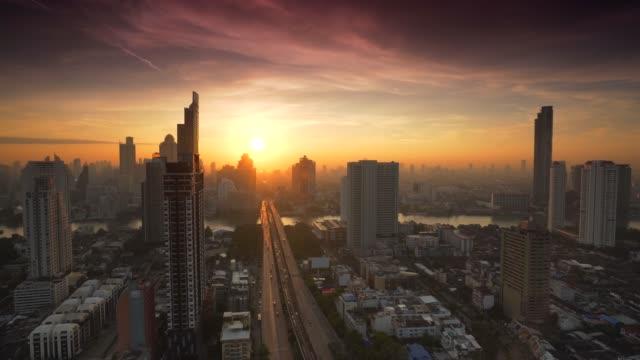 Sunrise in Bangkok City, Thailand Sunrise in Bangkok City, Thailand sunrise stock videos & royalty-free footage