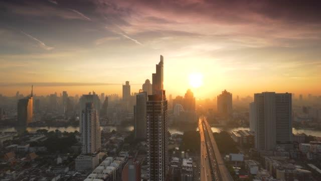 sunrise bangkok şehir, tayland - bangkok stok videoları ve detay görüntü çekimi