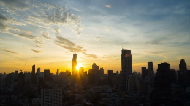 Sunrise in City Sunrise in City Thailand dawn stock videos & royalty-free footage