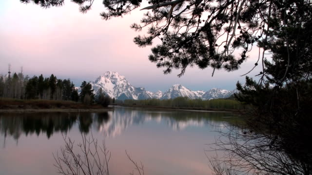Sunrise in Grand Teton National Park Oxbow Bend video