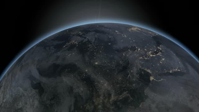 日の出のスペース - 気象学点の映像素材/bロール