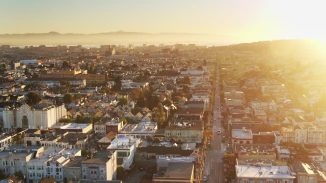 Sunrise in the Castro - Drone Shot video