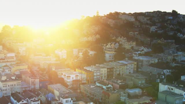 Sunrise in The Castro, San Francisco - Drone Shot video