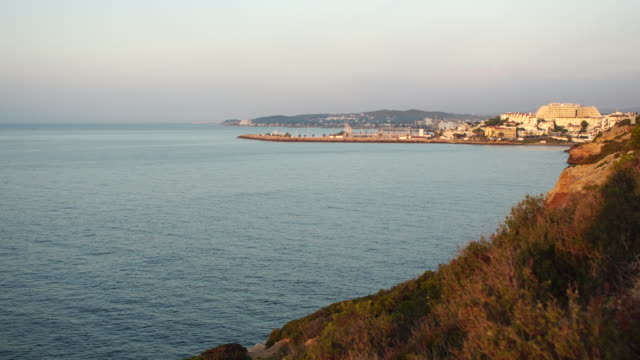 Sunrise in the Mediterranean coast - Sitges video