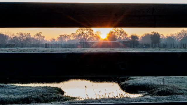 sunrise in the morning. Time Lapse. video