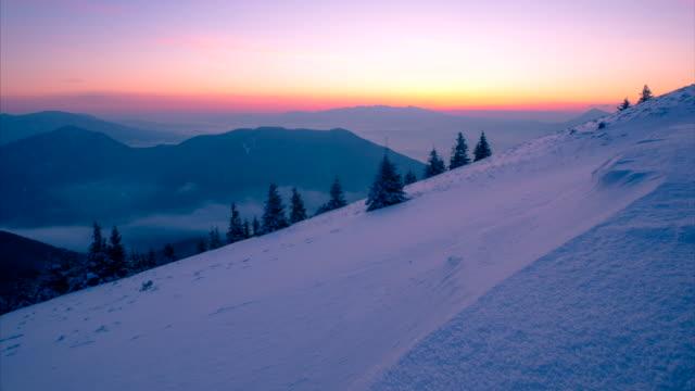 alba in montagna - monti appalachi video stock e b–roll
