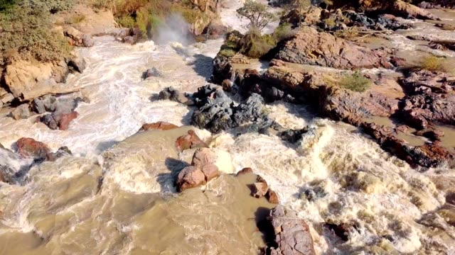 Sunrise in waterfall Epupa Falls, Northern Namibia video