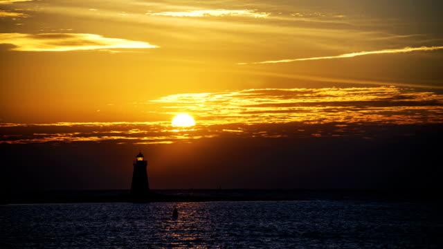 Sunrise on Long Island Sound video