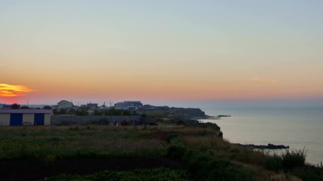 Sunrise on the sea - timelapse video