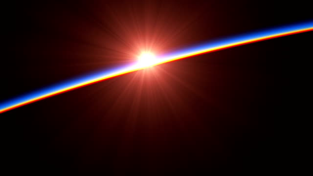 4K. Sunrise Over A Big Hurricane. View Of Planet Earth From Space. 4K. Sunrise Over A Big Hurricane. View Of Planet Earth From Space.  3840x2160. 3d Animation. light natural phenomenon stock videos & royalty-free footage