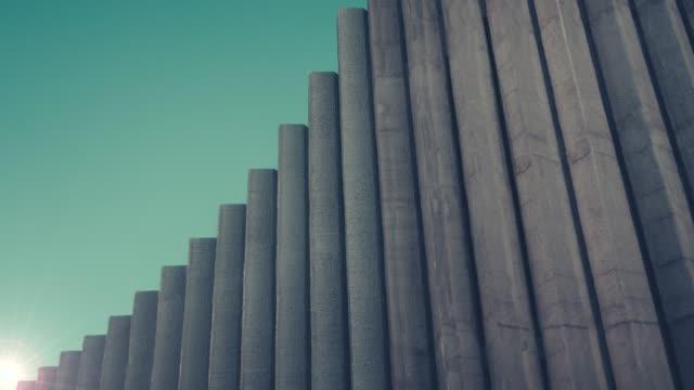 抽象的なアーキテクチャの日の出 - 壁点の映像素材/bロール