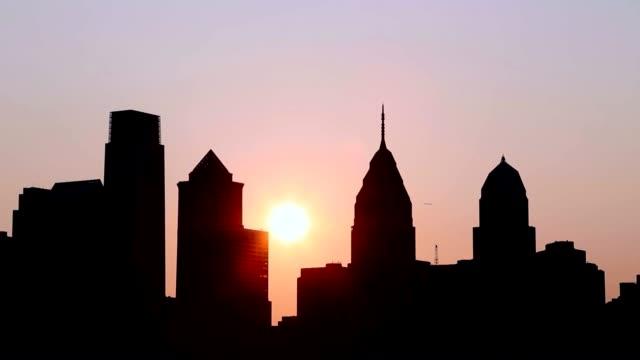 sunrise over city landscape - pink sunrise bildbanksvideor och videomaterial från bakom kulisserna