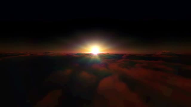 雲の上の日の出 - 地平線点の映像素材/bロール