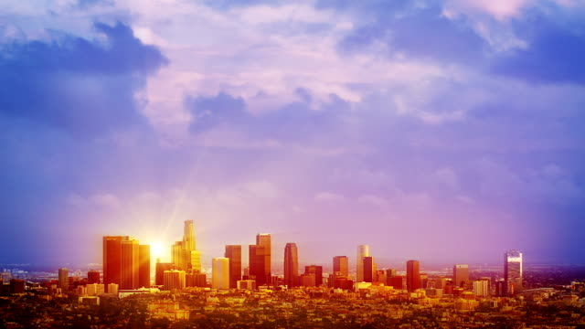 Sunrise over Los Angeles video