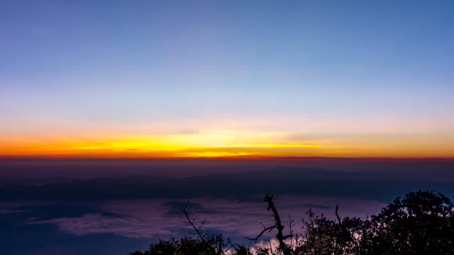 sunrise over mountain. - юго восток стоковые видео и кадры b-roll