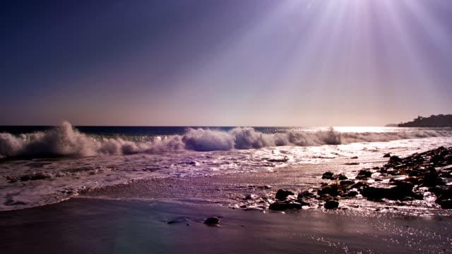 sunrise over ocean video