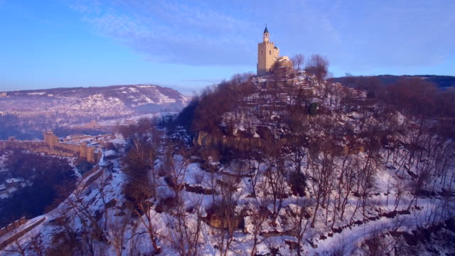 Sunrise over old town of Veliko Tarnovo video