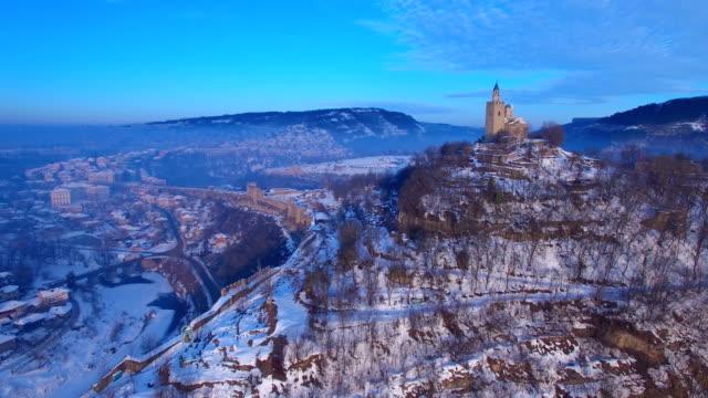 Sunrise over old town of Veliko Tarnovo video