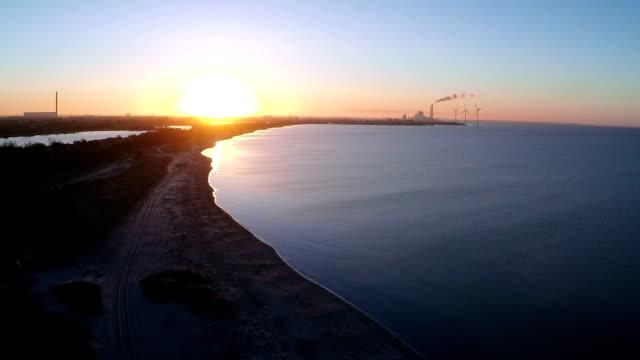Sunrise over Power Plant video
