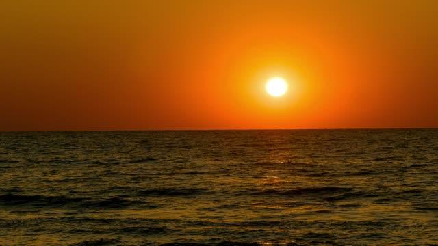 Sunrise over sea time lapse