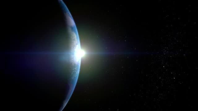 stockvideo's en b-roll-footage met zonsopgang boven de aarde. juiste weergave... fullhd. - new world